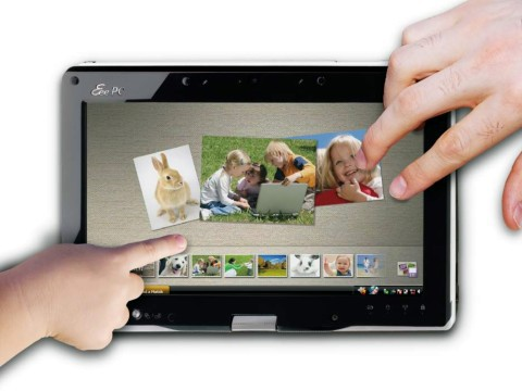 """Asus EeePC T91, já """"convertido"""" para tablet."""