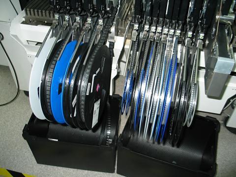 Rolos com resistores e outros componentes