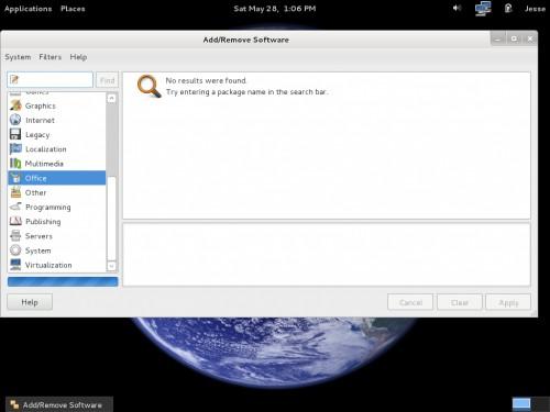 O gerenciador de pacotes do Fedora 15