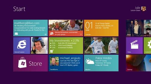 Nova tela do Windows 8