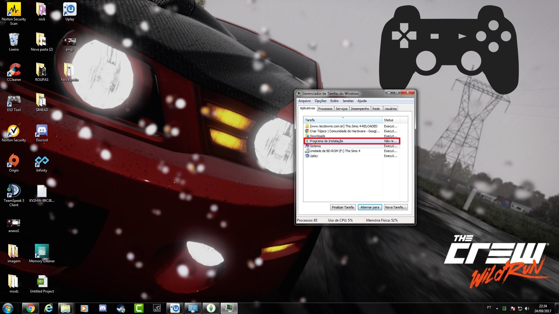 Problema nas instalações em jogos (setup installe)