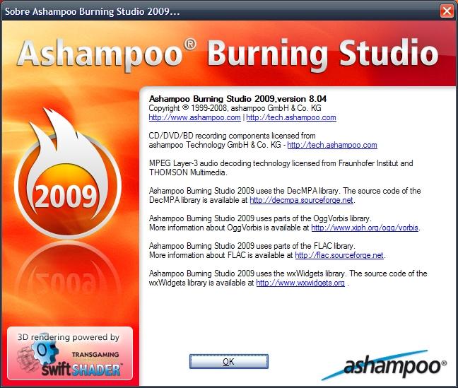 ashampoo burning studio 2009 serial em portugues